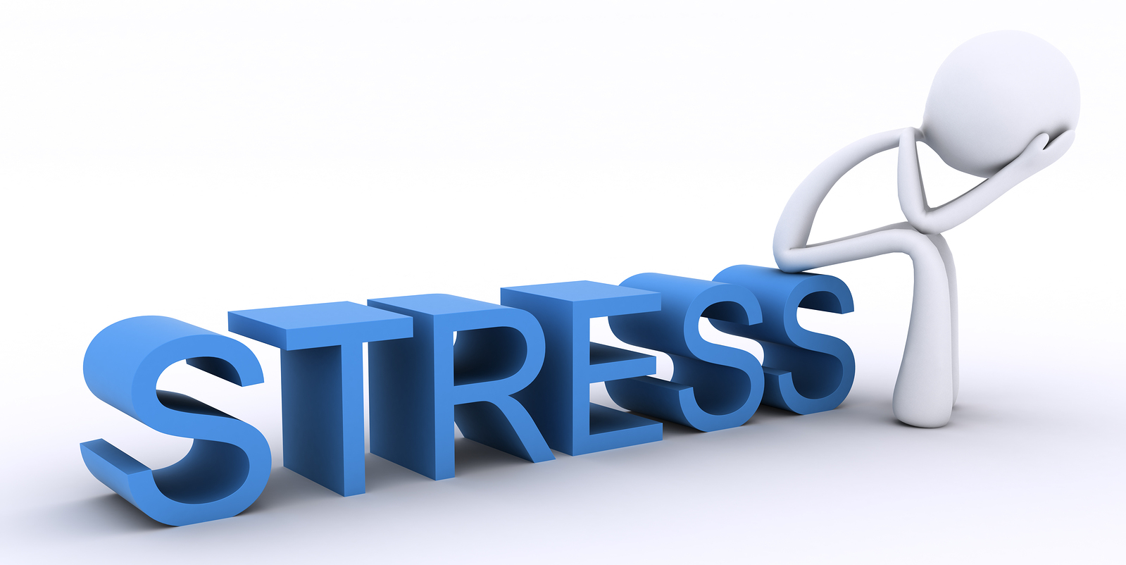 Animated person sitting on stress