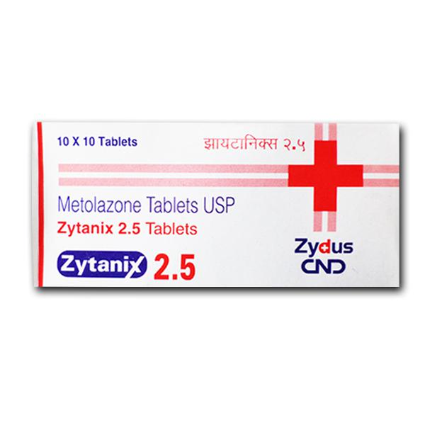Zaroxolyn  2.5 mg Generic tablets