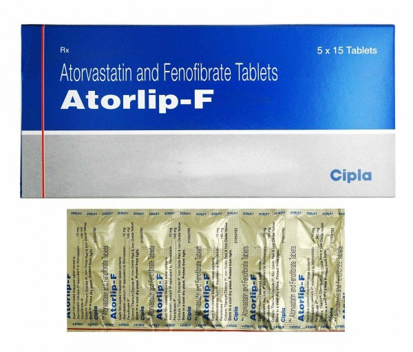 Atorvastatin (10mg) + Fenofibrate (145mg) generic tablets