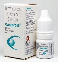 A box and bottle of Bimatoprost Ophthalmic Solution 0.03, 3 ML