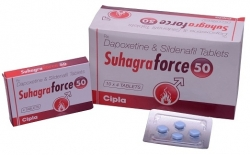 A box pack and a strip of generic Suhagra Force 50mg / 30mg Tablets