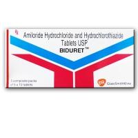 A box of generic Moduretic 5-50 mg tablets - hydrochlorothiazide / amiloride