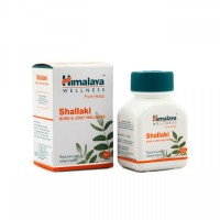 A box and a bottle of Himalaya Pure Herbs Shallaki Bone & Joint Wellness Tablet