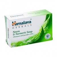 A bar of Himalaya Neem & Turmeric Soap