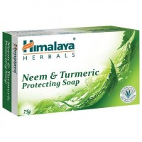 A bar of Himalaya Neem & Turmeric Soap 75 gm