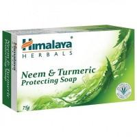A bar of Himalaya Neem & Turmeric Soap 75 gm