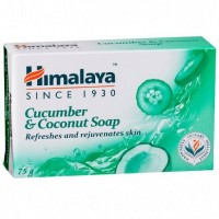 A bar of Himalaya Cucumber & Coconut Soap