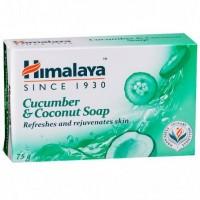 A bar of Himalaya Cucumber & Coconut Soap