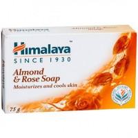 A bar of Himalaya Almond & Rose Soap