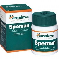A box and a bottle of Himalaya Herbal Healthcare Speman Tablet