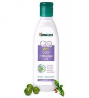 A bottle of Himalaya Baby Massage oil