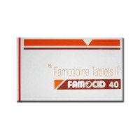 A box of generic Famotidine 40mg Tablet