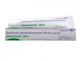 A box and a tube of generic Salicylic Acid 6 % Ointment