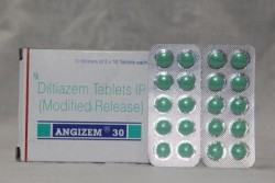 Box and two blisters of Cardizem 30 mg Generic tablets - Diltiazem
