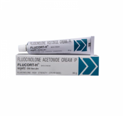A tube and a box of Synalar 0.1 Percent 30gm generic Skin Cream - Fluocinolone acetonide