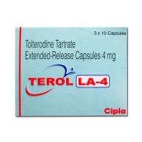 Box of generic Tolterodine 4mg capsules