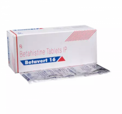 A box and a strip of Betaserc 16 mg Generic tablets - Betahistine