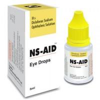 A box and a bottle of Voltaren 0.1 Percent 5 ml Generic Eye drops - Diclofenac