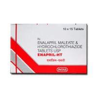 Box of Vaseretic 10mg/25mg Generic tablets - Enalapril / Hydrochlorothiazide