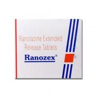 A box pack of Ranexa 500 mg ER Generic tablets - Ranolazine