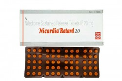 Blister strip and box of generic Nifedipine (20mg) Tablet