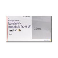 A box of Imdur 30 mg Tablet PR - Isosorbide Mononitrate