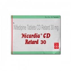 Box of Procardia 30 mg Generic tablets - Nifedipine