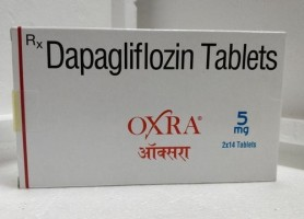 A box of Farxiga 5mg Generic tablets - Dapagliflozin
