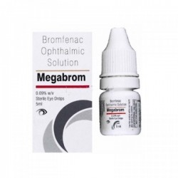A box and a bottle of generic Bromfenac 0.09 %  Eye Drops