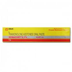 A box of generic Triamcinolone Acetonide  0.1 % (5 gm) Tube