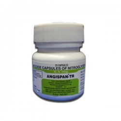 A bottle of generic Nitroglycerin 6.5mg Tablet