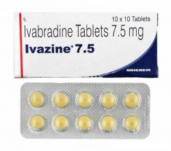A box and a blister of generic Ivabradine 7.5 mg Tablet