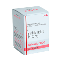 A box of generic Erlotinib (100mg) Tablet