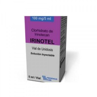 A box pack of generic Irinotecan 100mg/5ml Injection