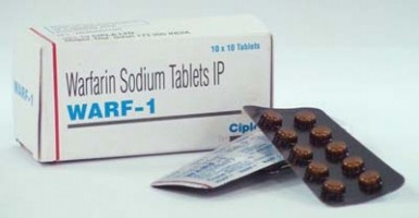A box and two blisters of generic Warfarin 1mg Tablet