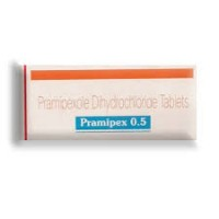 A box of generic Pramipexole 0.5mg Tablet
