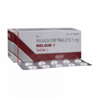 A box of generic Rasagiline 1 mg Tablet