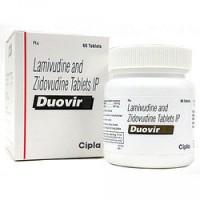 A box of generic Lamivudine (150mg) + Zidovudine (300mg) Tablet