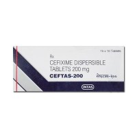 A box of generic Cefixime 200mg Tablet