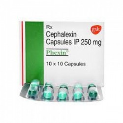 Box and blister strip of generic Cephalexin (250mg) Capsule