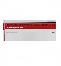 A box pack of generic Minocycline HCL 50mg Capsule