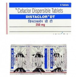 A box and a strip pack Cefaclor 250mg Tablet