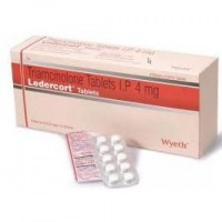 A box and a strip of generic Triamcinolone 4mg Tablet
