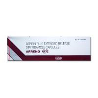 A box of generic aspirin and dipyridamole (ER) 200 mg capsules