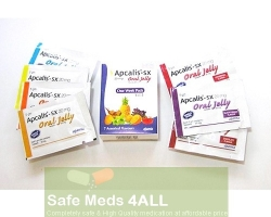 A box pack and 7 sachets of generic Cialis oral jelly 20mg - tadalafil oral jelly