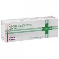 A box pack of generic Tenormin 100mg Tablets - Atenolol