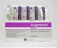 Box and strip pack of AMOXICILLIN CLAVULANATE ( Clavulanic acid ) 500mg 125mg Tablet