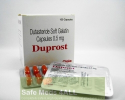 A box and a blister of generic Dutasteride 0.5mg capsule