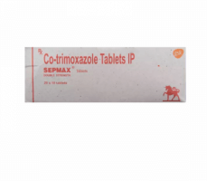 Box of generic Sulfamethoxazole Trimethoprim 400mg 80mg Tablets
