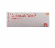 Box of generic Sulfamethoxazole Trimethoprim 400mg 80mg Tablets